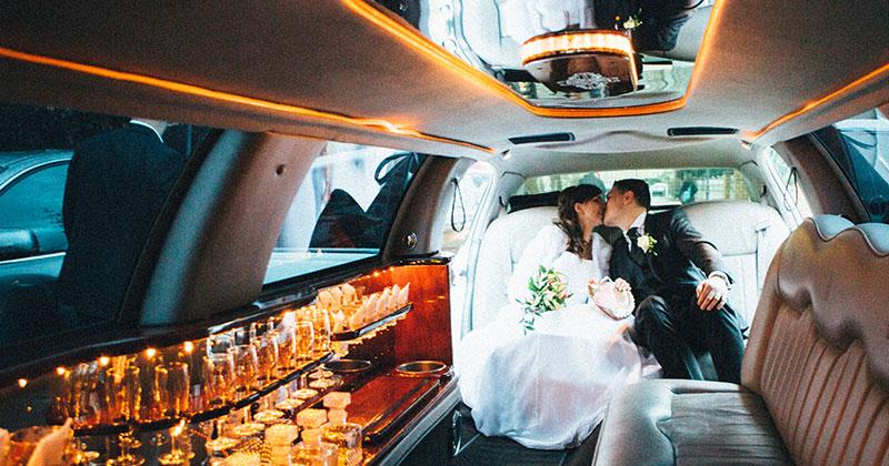 Limousine mieten für Hochzeit Essen